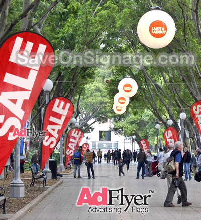 Advertising teardrop flags also known as flying banners are fantastic and cheap to buy flags online
