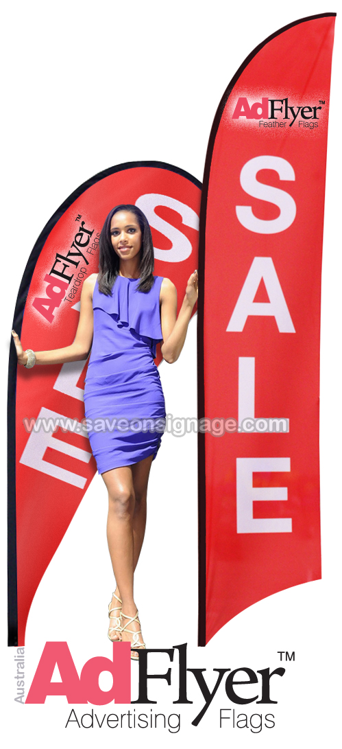 Large Advertising Flags like the Feather and Teardrop are fantastic quality and cheap to buy