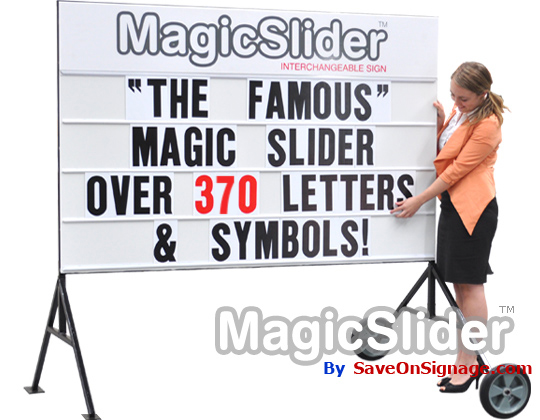 The famous Magic Slider interchangeable sign with 300 letters