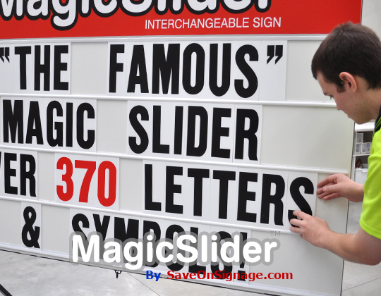 huge letters for interchangeable letter sign board