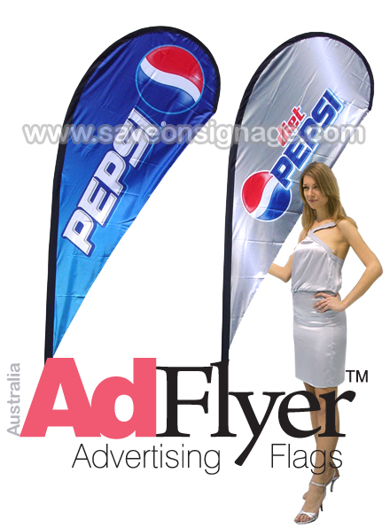 Feather Flags Teardrop Flags by AdFlyer are fantastic quality and made to fly.